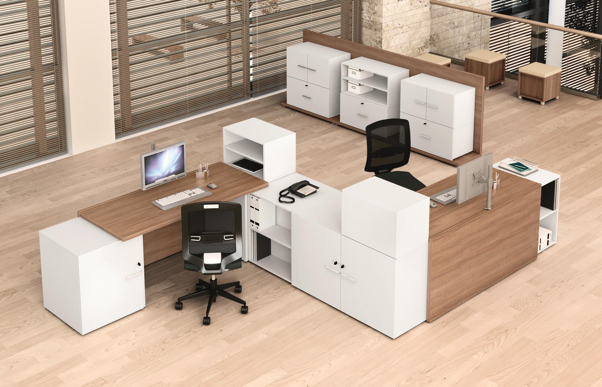 B-concept-bureaux-en-epoxy-decor-imitation-merisier-naturel-blanc