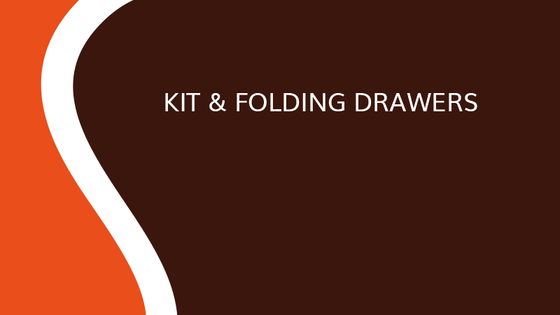 Kit & Folding drawers - Interior fittins - Saônoise